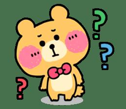 Round Bear sticker #130634
