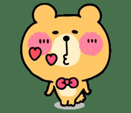 Round Bear sticker #130642