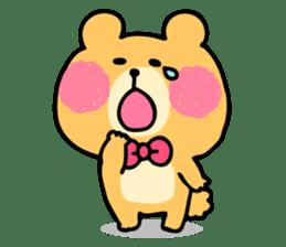 Round Bear sticker #130644