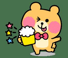 Round Bear sticker #130645