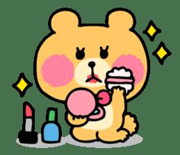 Round Bear sticker #130646