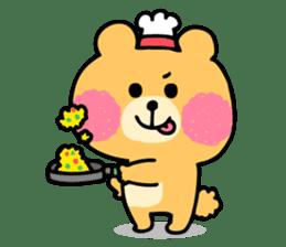 Round Bear sticker #130647