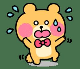Round Bear sticker #130653