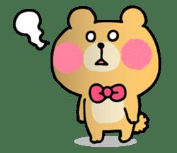 Round Bear sticker #130655