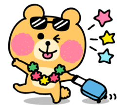 Round Bear sticker #130658