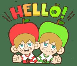 JONA and ORI -Twins Apple Brothers- sticker #130973