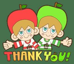 JONA and ORI -Twins Apple Brothers- sticker #130974