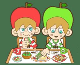 JONA and ORI -Twins Apple Brothers- sticker #130978