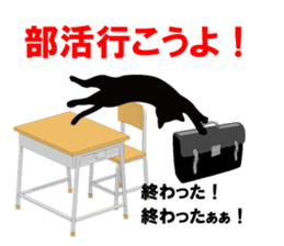 Cat student sticker #131108