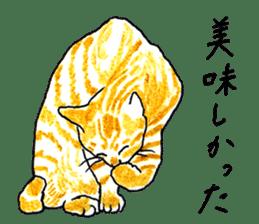 brown tabby cat koto-chan sticker #131161
