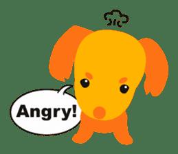 """Mix dog Dachshund and Chihuahua """"Chisu"""" sticker #131743"""