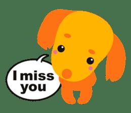 """Mix dog Dachshund and Chihuahua """"Chisu"""" sticker #131745"""