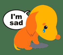 """Mix dog Dachshund and Chihuahua """"Chisu"""" sticker #131747"""