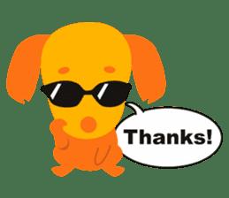 """Mix dog Dachshund and Chihuahua """"Chisu"""" sticker #131750"""