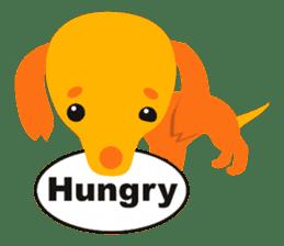 """Mix dog Dachshund and Chihuahua """"Chisu"""" sticker #131751"""