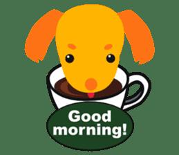 """Mix dog Dachshund and Chihuahua """"Chisu"""" sticker #131752"""