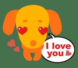 """Mix dog Dachshund and Chihuahua """"Chisu"""" sticker #131754"""