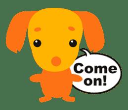 """Mix dog Dachshund and Chihuahua """"Chisu"""" sticker #131755"""