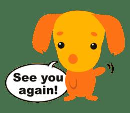 """Mix dog Dachshund and Chihuahua """"Chisu"""" sticker #131756"""
