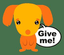 """Mix dog Dachshund and Chihuahua """"Chisu"""" sticker #131757"""