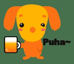 """Mix dog Dachshund and Chihuahua """"Chisu"""" sticker #131759"""