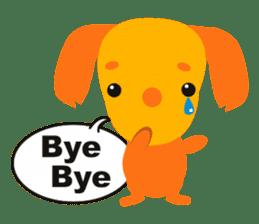 """Mix dog Dachshund and Chihuahua """"Chisu"""" sticker #131760"""