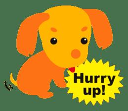 """Mix dog Dachshund and Chihuahua """"Chisu"""" sticker #131761"""