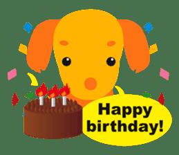 """Mix dog Dachshund and Chihuahua """"Chisu"""" sticker #131766"""