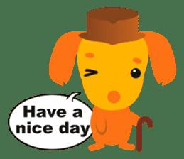 """Mix dog Dachshund and Chihuahua """"Chisu"""" sticker #131768"""