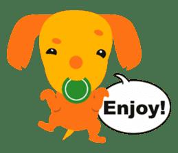 """Mix dog Dachshund and Chihuahua """"Chisu"""" sticker #131775"""