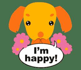 """Mix dog Dachshund and Chihuahua """"Chisu"""" sticker #131779"""