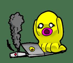 He is a yellow octopus KIDAKO sticker #132192