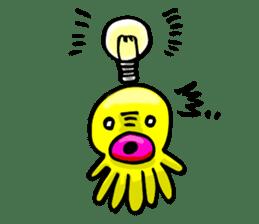 He is a yellow octopus KIDAKO sticker #132193
