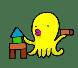 He is a yellow octopus KIDAKO sticker #132194