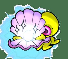 He is a yellow octopus KIDAKO sticker #132213