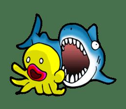 He is a yellow octopus KIDAKO sticker #132216