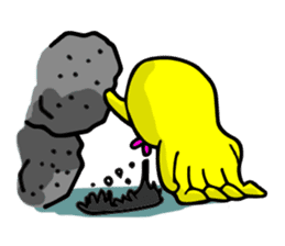 He is a yellow octopus KIDAKO sticker #132217