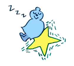 Moopy, as a shooting star. sticker #133003
