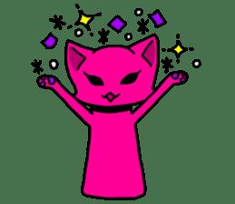 A pink cat sticker #133063