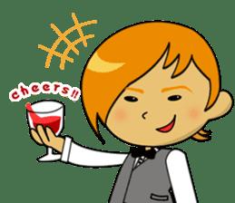 Meet Winey the Sommelier! sticker #133144