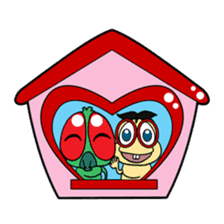Funny Insects - crazy worm and cute fly sticker #133595