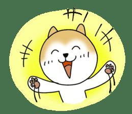 A Japanese dog, Maru 2 sticker #134189
