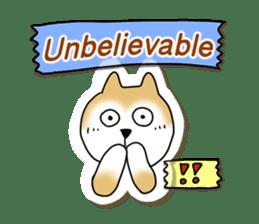 A Japanese dog, Maru 2 sticker #134191