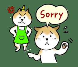 A Japanese dog, Maru 2 sticker #134205