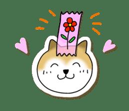 A Japanese dog, Maru 2 sticker #134216
