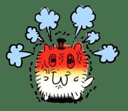 Chonmage-Hamster sticker #134741