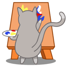 Cute Cat - funny and cute sticker #134950