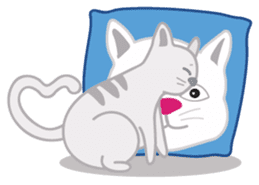 Cute Cat - funny and cute sticker #134953