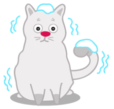 Cute Cat - funny and cute sticker #134961