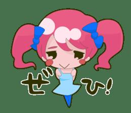 Pink-chan sticker #135008